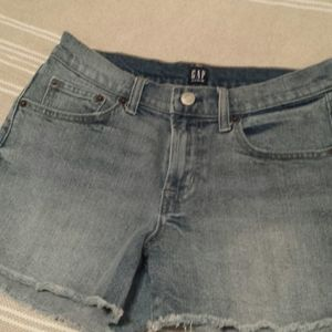 GAP denim cut-off shorts, size 27T